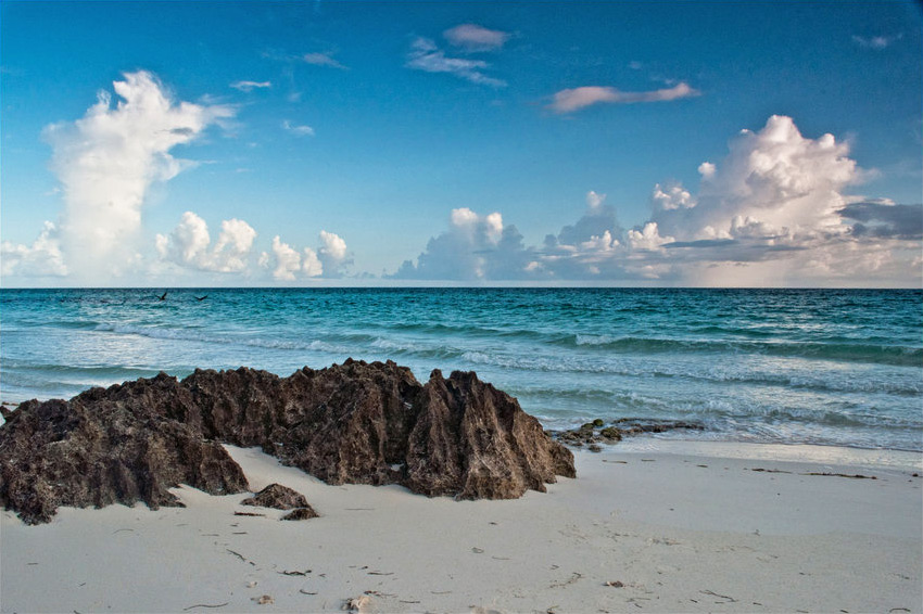 Beach in the morning, Cuba