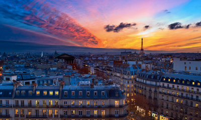 Sunset. Paris, France
