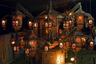 Buddhist lantern festival, Sri Lanka