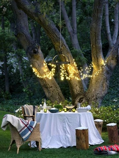 Backyard String Lights, Charlottesville, Virginia