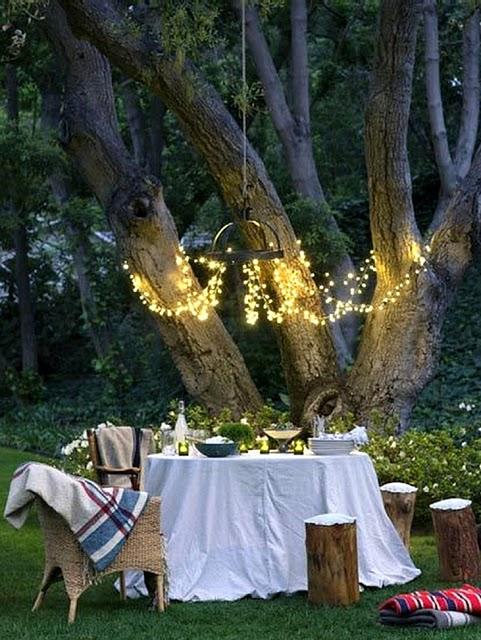 backyard string lights pole ideas pinterest