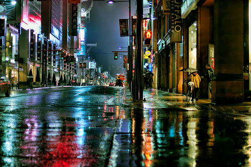 Rainy Night, Toronto, Ontario, Canada