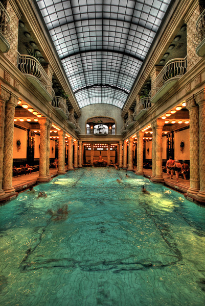 The Gellert Swimming Pool. Budapest, Hungary