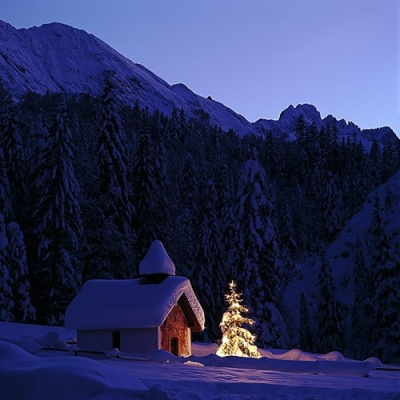 Christmas in the Bavarian Alps, Germany