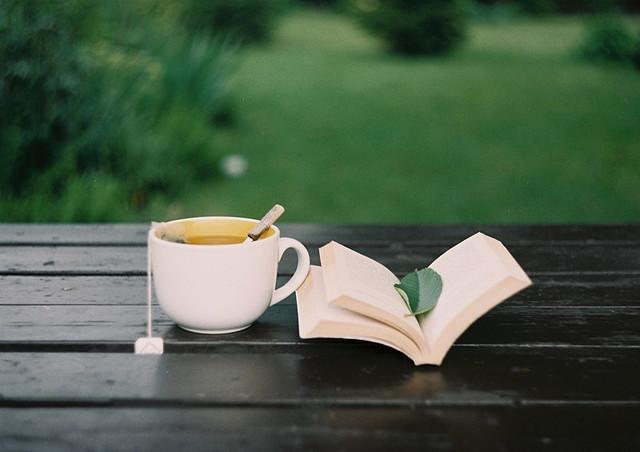 Herbal tea and a good book
