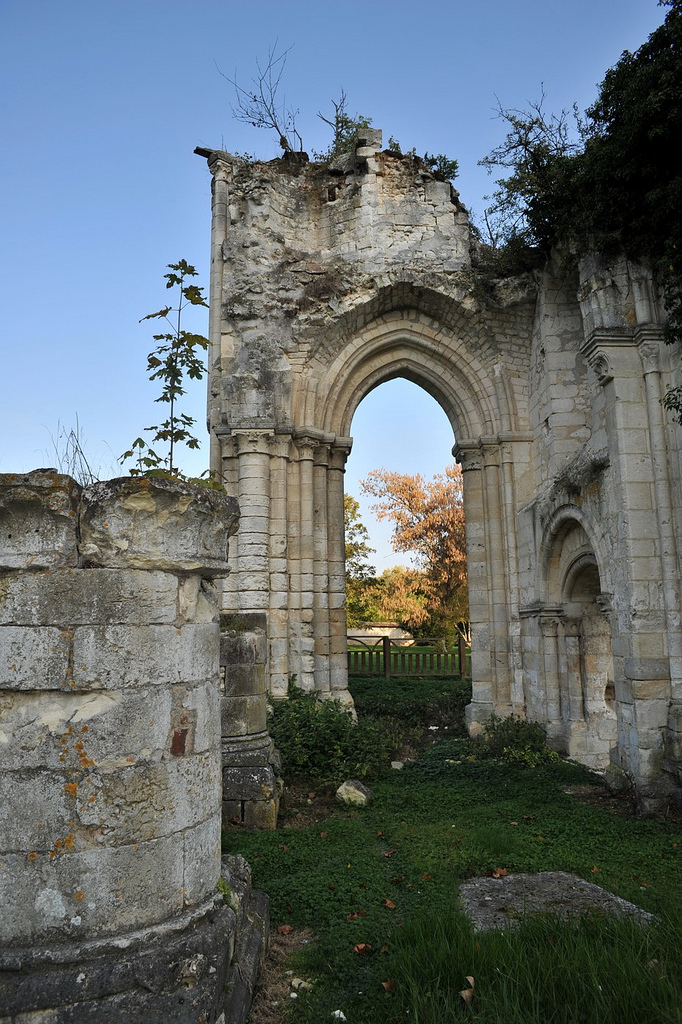Noë abbey ruins, Bonneville-sur-Iton, Normandy, France