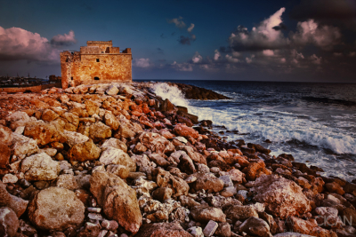The medieval castle of Paphos, Cyprus
