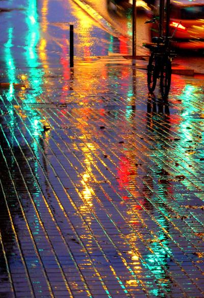 Rainy Night, Barcelona, Spain