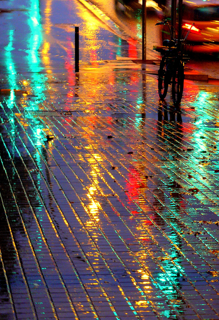 Rainy Night, Barcelona, Spain