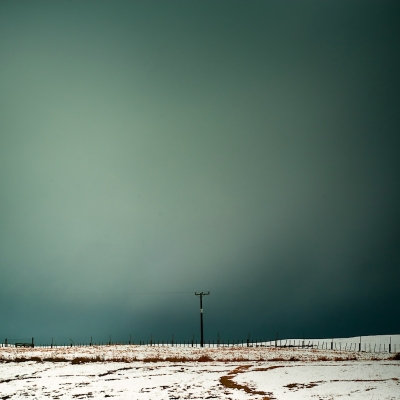 Sorrowful winter landscape