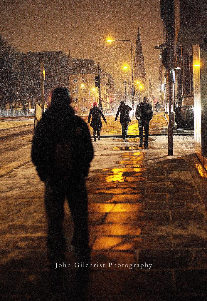 Winter in Edinburgh, Scotland