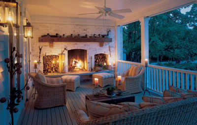 Back Porch Fireplace, Charlottesville, Virginia
