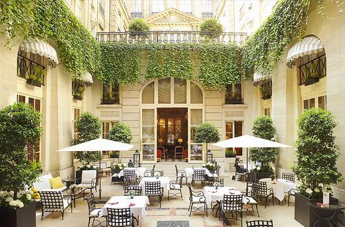 Courtyard Restaurant, Paris, France