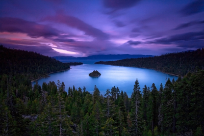 Emerald Bay sunset, Lake Tahoe, California