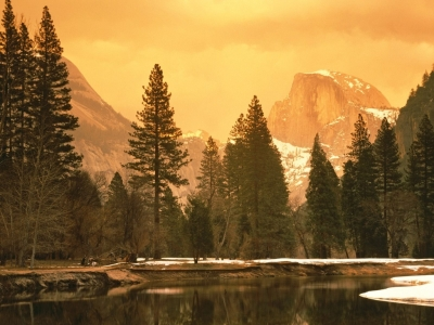 Half Dome and the Merced River, Yosemite National Park, California