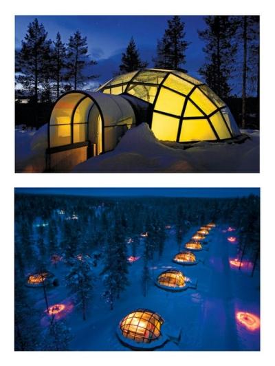 Hotel Kakslauttanen's igloo village, Saariselkä, Finland