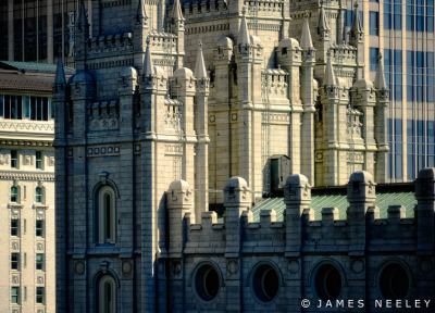 Mormon Temple, Salt Lake City, Utah, USA