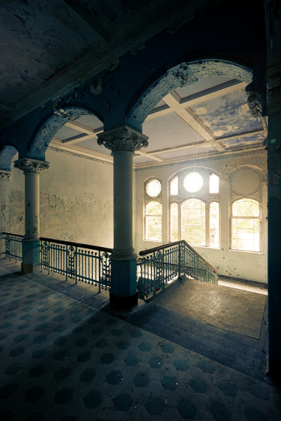 Sanatorium in Beelitz Heilstatten, Brandenburg, Germany
