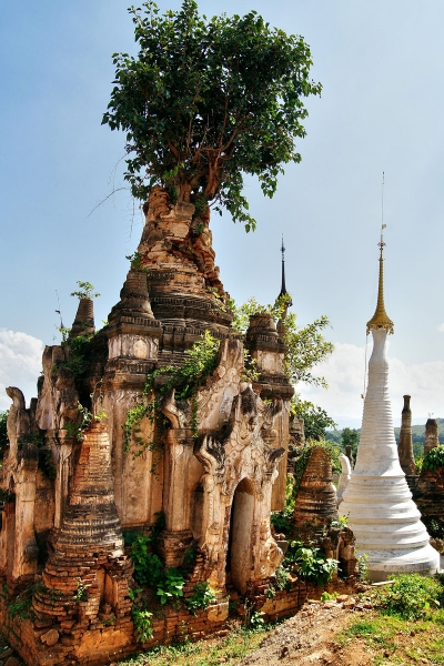 Shwe Inn Thein Stupa, Inle Lake, Myanmar / Burma