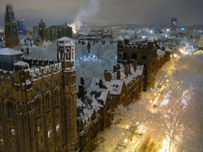 Snowy Night, Yale University, New Haven