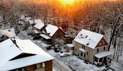 Winter in Ann Arbor, Michigan