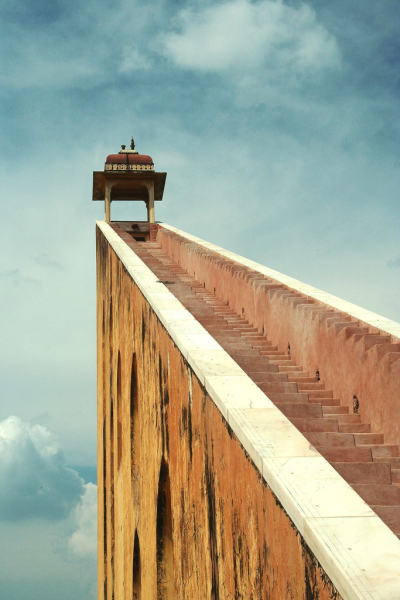 Stairs to Samrat Yantra, Jantar Mantar, India