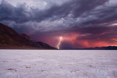Storm in the Death Valley, California, USA