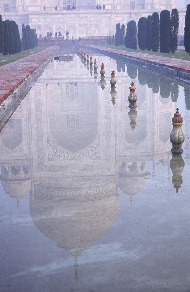 Taj Mahal reflected, Agra, India
