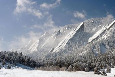 The Flatirons in Colorado, USA