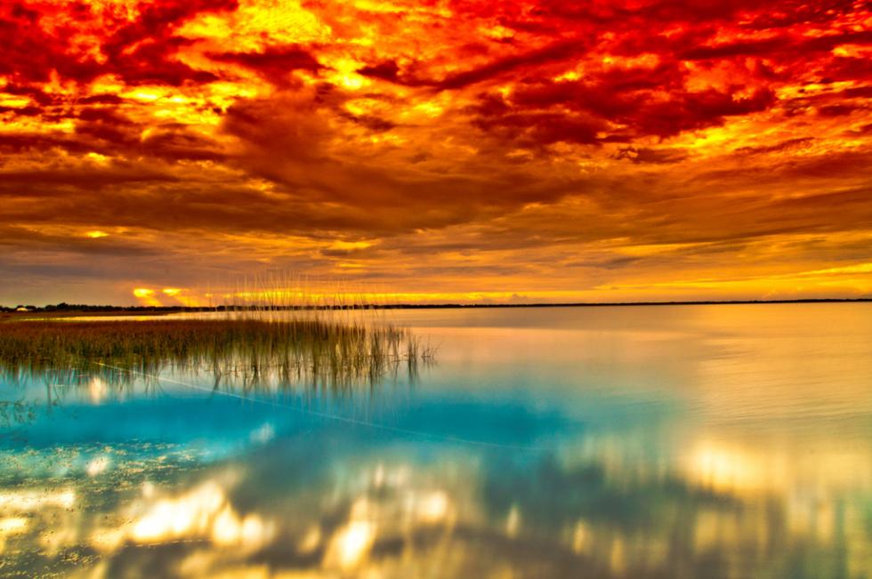 Tropical Sunset, St. Cloud Park, Florida