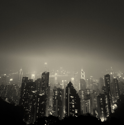 Hong Kong. A strange perspective of Gotham City