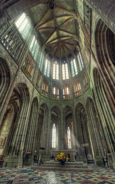 Abbey church, Mont Saint-Michel, France