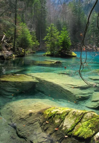 Blausee, Berner Oberland, Switzerland