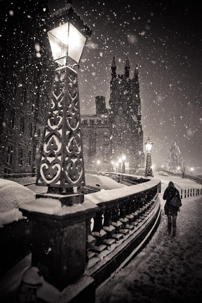 Edinburgh at midnight, Scotland
