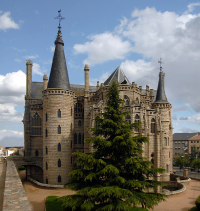 Episcopal palace at Astorga, Spain