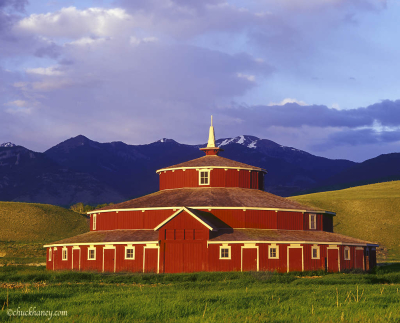 Haney Twin Bridges Round Barn, Montana, USA
