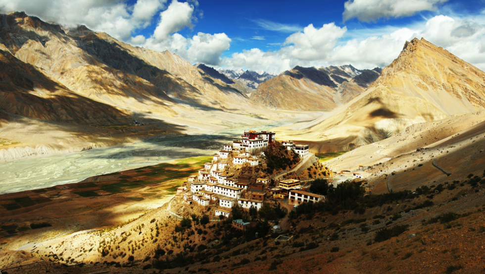 Ki Gompa, a Buddhist Monastery in the Himalayas
