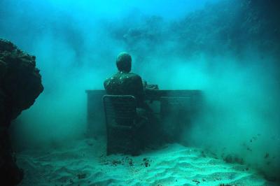 Lost Correspondent, Cancun Underwater Museum, Mexico