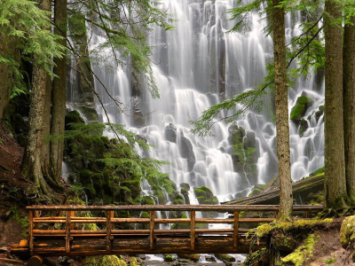 Ramona Falls, Mount Hood Wilderness, Oregon, USA