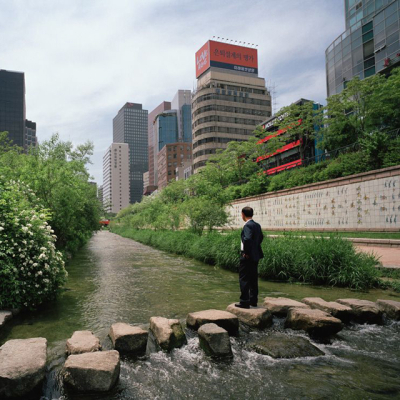 Cheonggyecheon Stream, Seoul, Korea