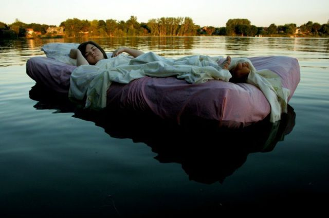 Bed on water