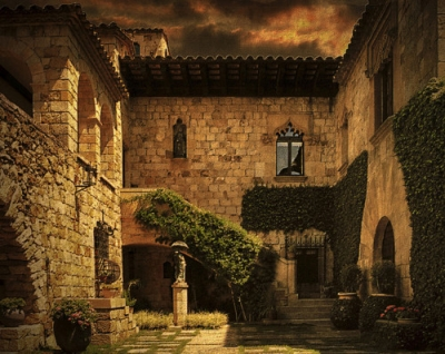 Courtyard Ivy, Catalonia, Spain
