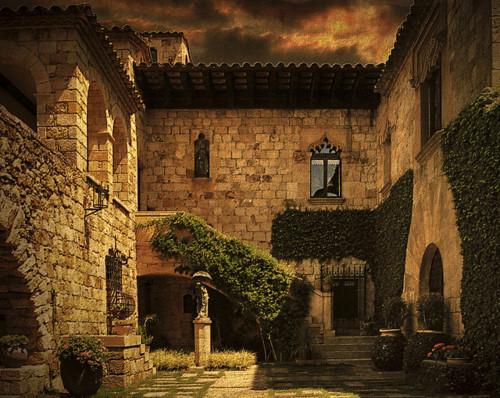 Courtyard Ivy, Catalonia, Spain