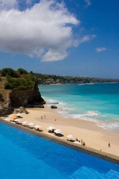 Pool and beach, Bali