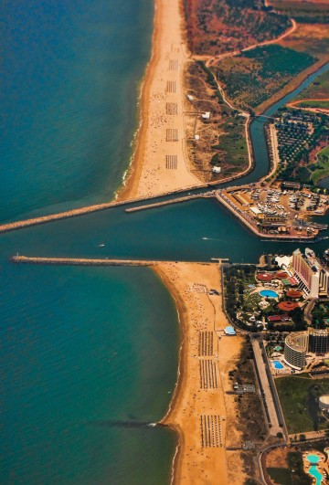 Beach shore, aerial view. Summer is coming...