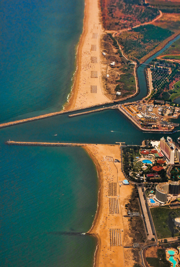 Beach shore, aerial view. Summer is coming…