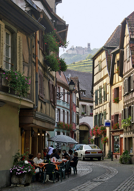 Charming villages of Alsace, Ribeauvillé, France