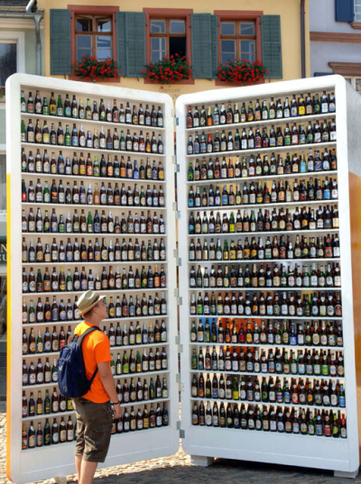 Giant beer fridge, Canada