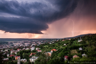 Storm in Pecs, Hungary
