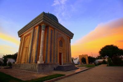 Abu Mansur Mosque in Samarkand, Uzbekistan
